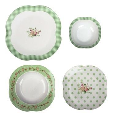 Aryıldız By Orient 24 Parça Yemek Takımı Flower Green Renkli